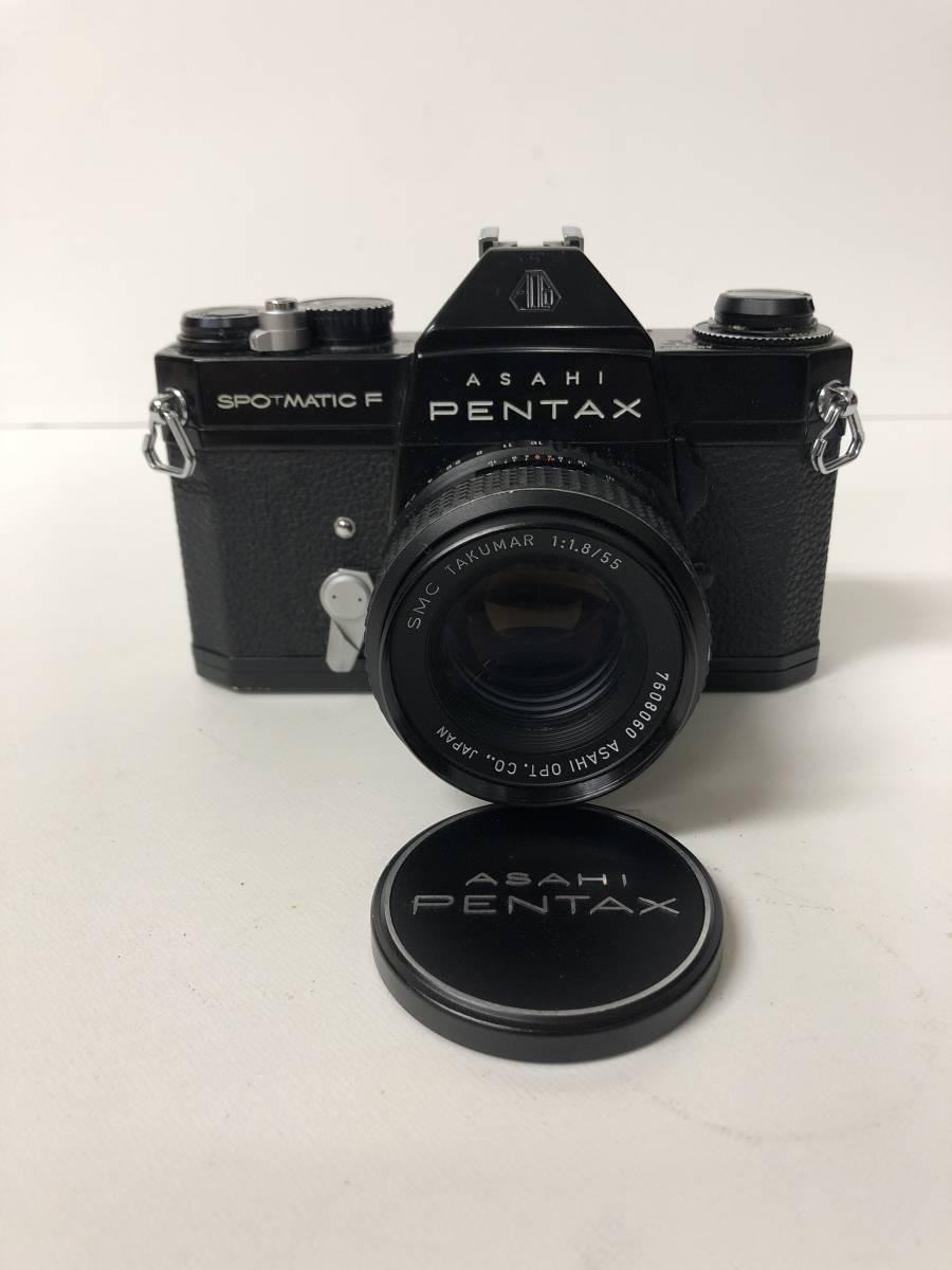 カメラ PENTAX SPOTMATIC F SPF+55mm F1.8 ブラックボディ k91227