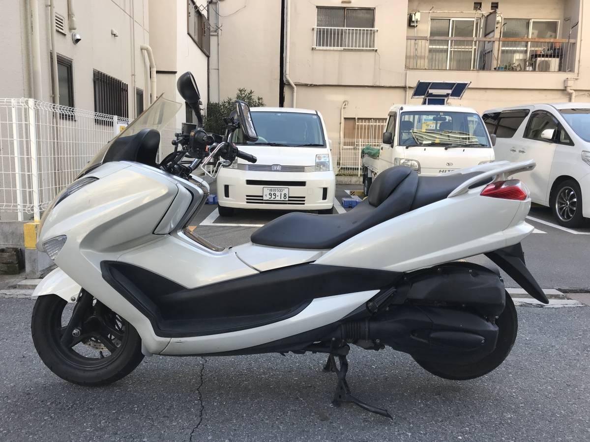 大阪市~ YAMAHA マジェスティ 250 エンジン好調 自賠責付 1円スタート SG20J 4D9 NEWマジェ 現行型_画像2