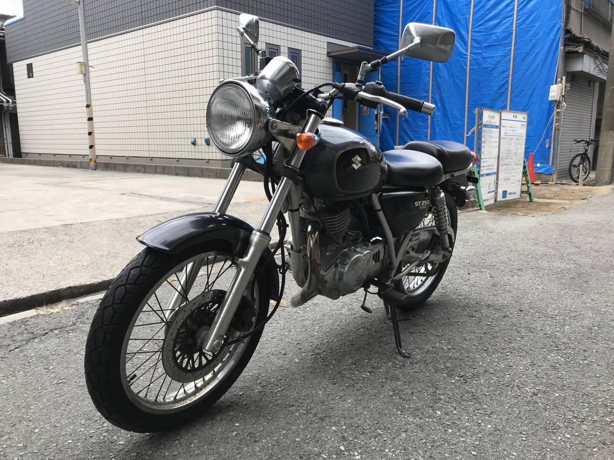 大阪市~ ST250E FI インジェクションモデル BA-NJ47A 低走行 1円スタート エンジン好調_画像4