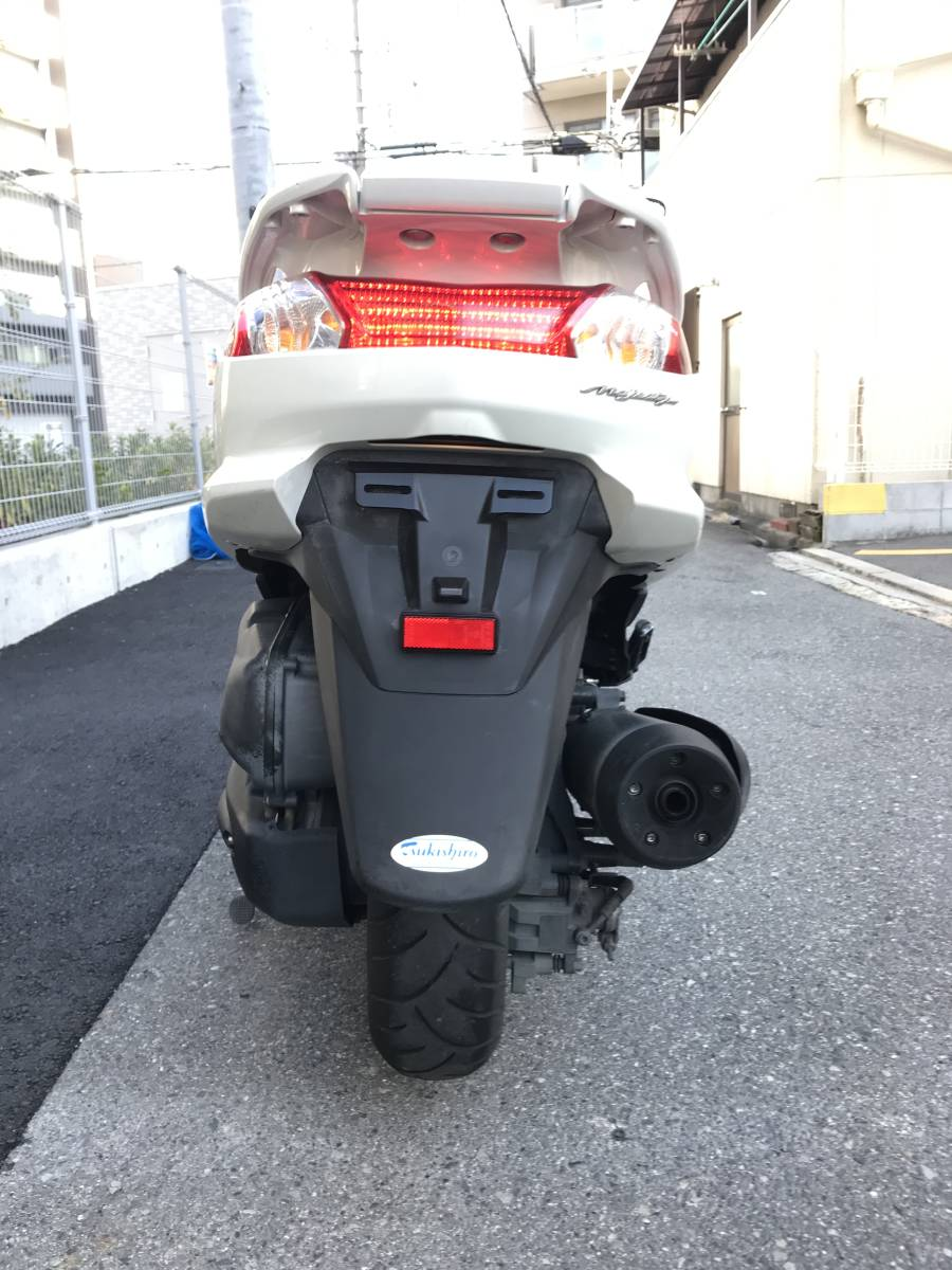 大阪市~ YAMAHA マジェスティ 250 エンジン好調 自賠責付 1円スタート SG20J 4D9 NEWマジェ 現行型_画像8