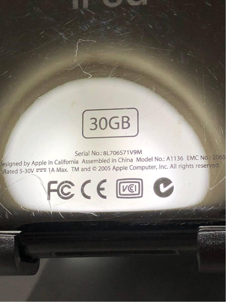 【ジャンク】iPod classic 第5世代 30GB ブラック MA146J/A_画像6