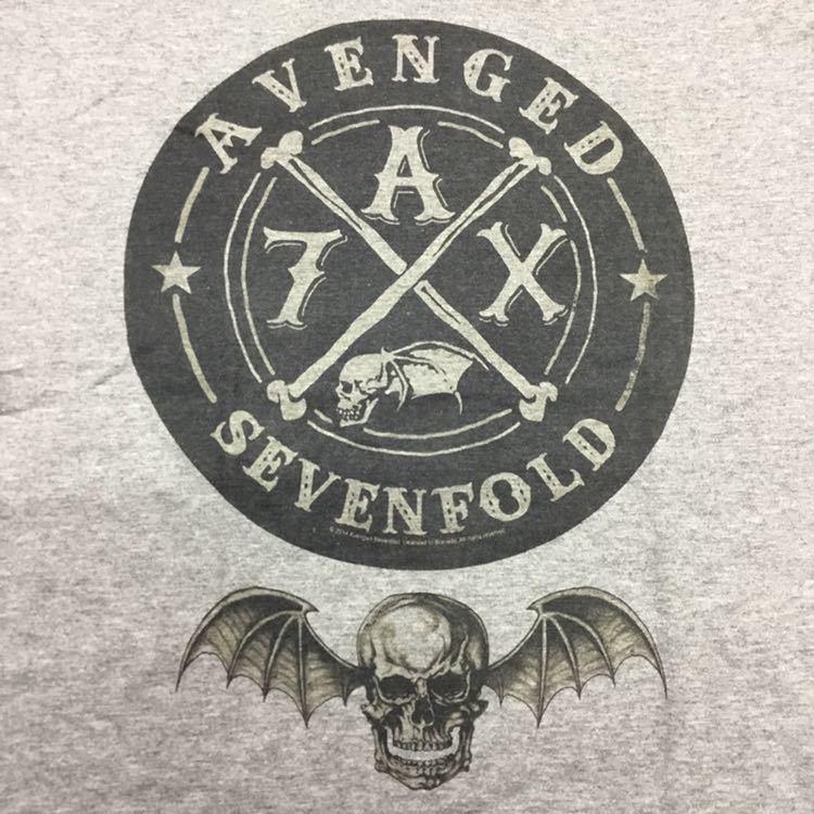 両面プリントバンドデザイン半袖Tシャツ XLサイズ アヴェンジドセブンフォールド A7X AVENGED SEVENFOLD ③ SR4A3