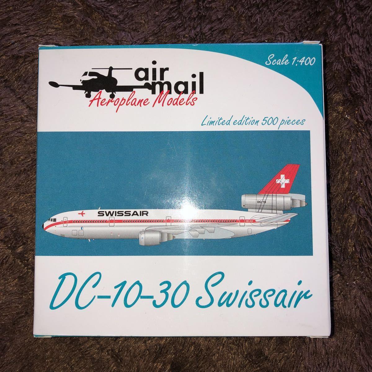 送料込み!スイス航空 DC-10-30 ダイキャスト / エアメール製 限定モデル_画像1