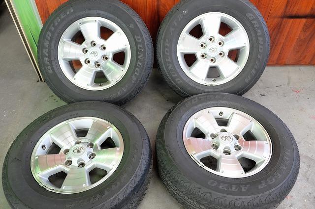 USトヨタ タコマ 純正 17インチ アルミ タイヤ セット_画像1