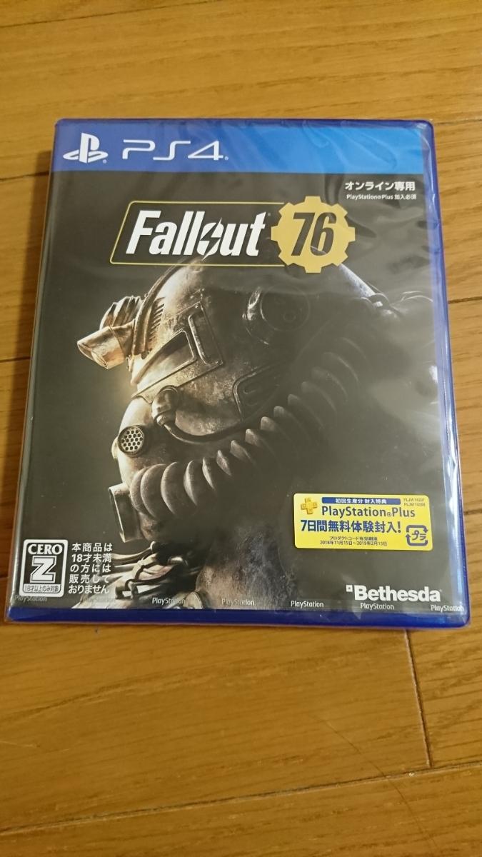 【新品未開封】PS4ソフト Fallout 76【送料無料/匿名配送】