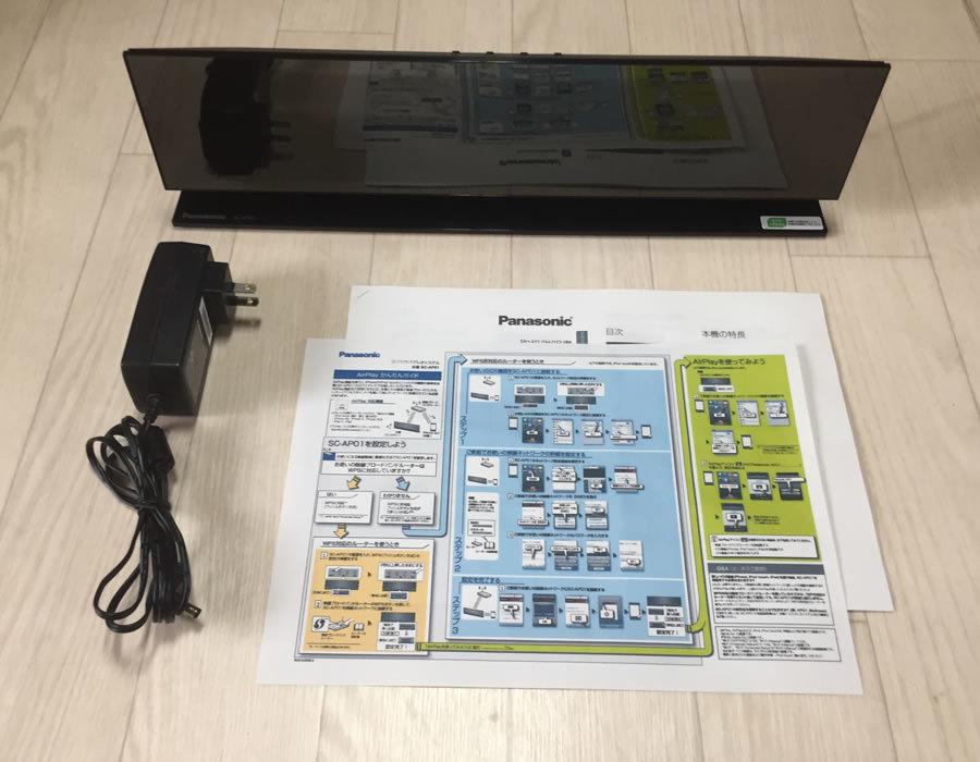 中古 AirPlay対応 Panasonic コンパクトステレオシステム SC-AP01 iphone対応_画像1