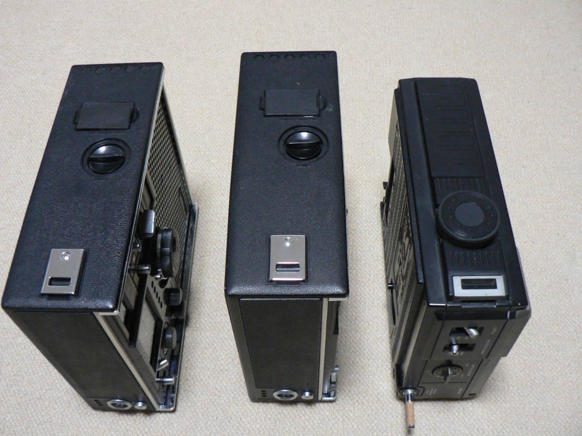 SONY ICF-5800 2台 受信可 電池OK ANT先端NG SANYO RP7700 電源OK 受信確認 音出ず 社外ACアダプタ ジャンク扱い_画像6