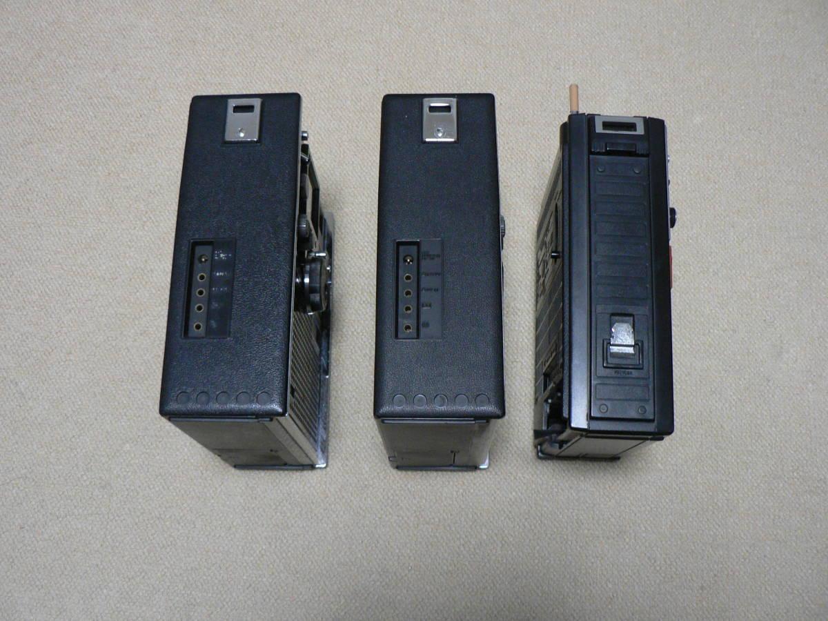 SONY ICF-5800 2台 受信可 電池OK ANT先端NG SANYO RP7700 電源OK 受信確認 音出ず 社外ACアダプタ ジャンク扱い_画像4