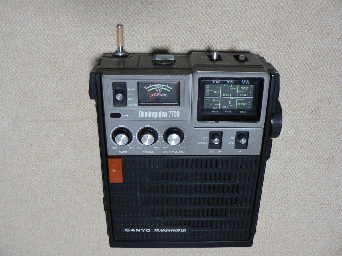 SONY ICF-5800 2台 受信可 電池OK ANT先端NG SANYO RP7700 電源OK 受信確認 音出ず 社外ACアダプタ ジャンク扱い_画像9
