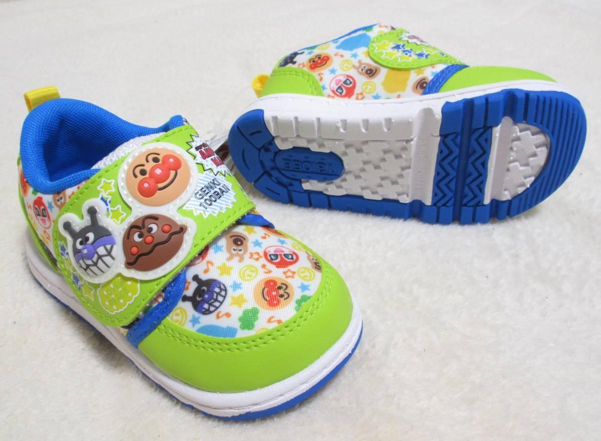11f67160ffce2 代購代標第一品牌- 樂淘letao - 新品未使用☆ アンパンマンMOONSTAR 立体グリーン靴シューズ13cm 2E 軽量