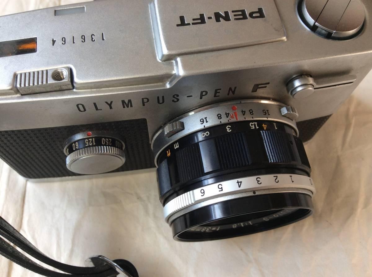 OLYMPUS オリンパス PEN-FT /レンズ F.Zuiko Auto-S 1:1.8 f=38㎜/ケース付き♪_画像4