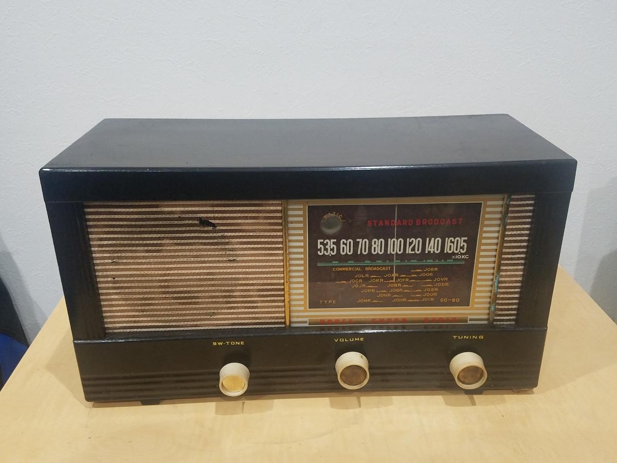 真空管 ラジオ Super Radio STANDARD BROADCAST SO-80 ジャンク_画像3