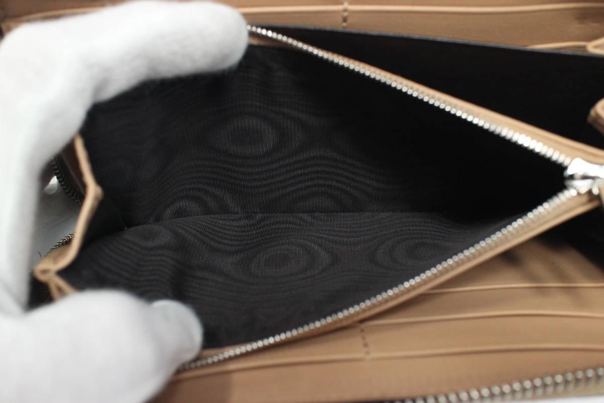 美品【GUCCI本物】ラウンドファスナー長財布/マットクロコダイル革/ベージュ【V603T_画像9