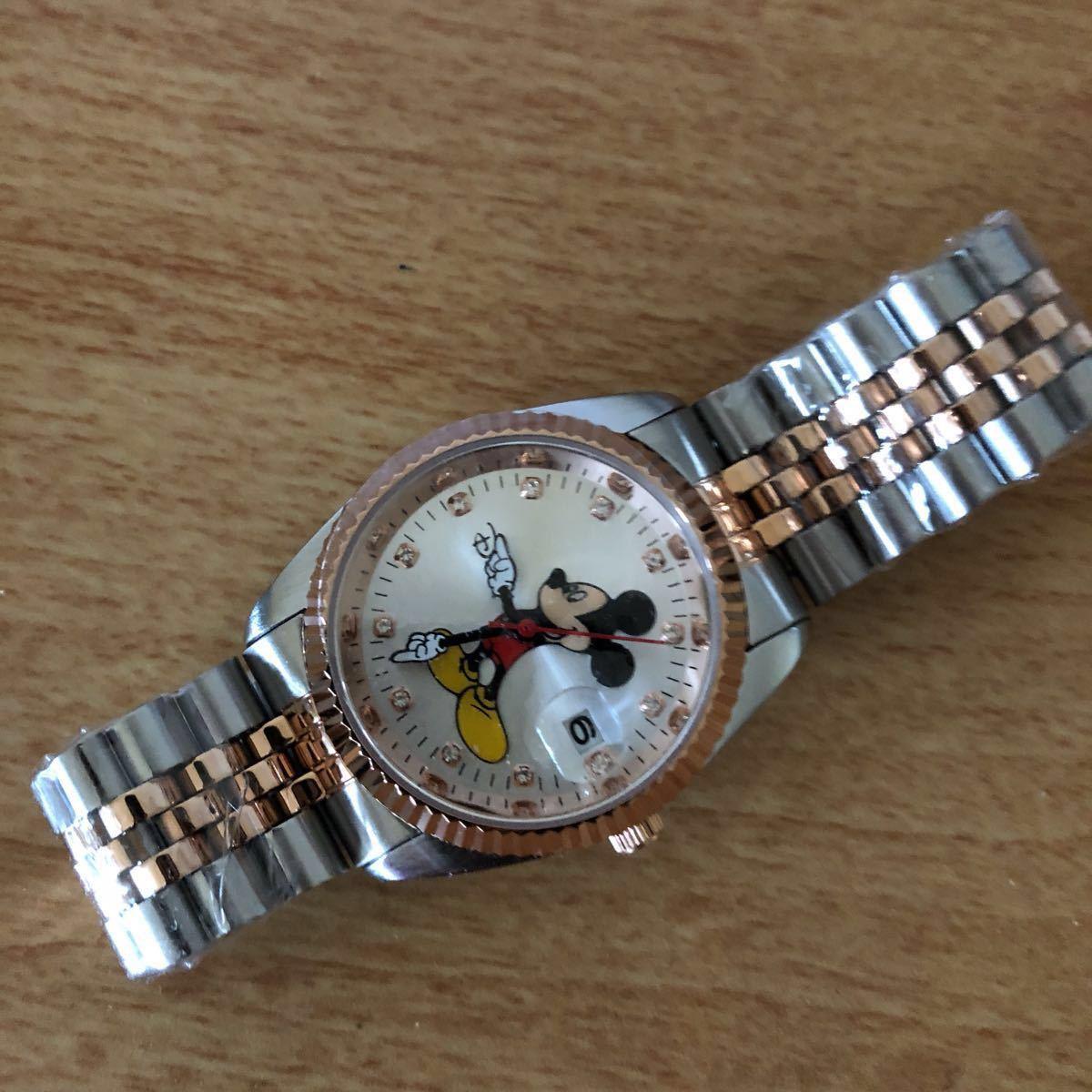 超プレミアム 世界限定モデル ミッキーマウス ダイヤモンド13石 腕時計 ロレックスタイプ ブラック未使用品 豪華オマケ付き_画像6