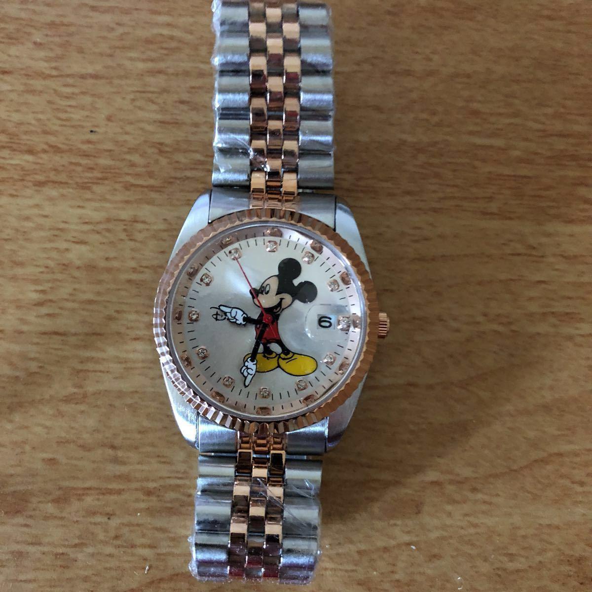 超プレミアム 世界限定モデル ミッキーマウス ダイヤモンド13石 腕時計 ロレックスタイプ ブラック未使用品 豪華オマケ付き_画像5