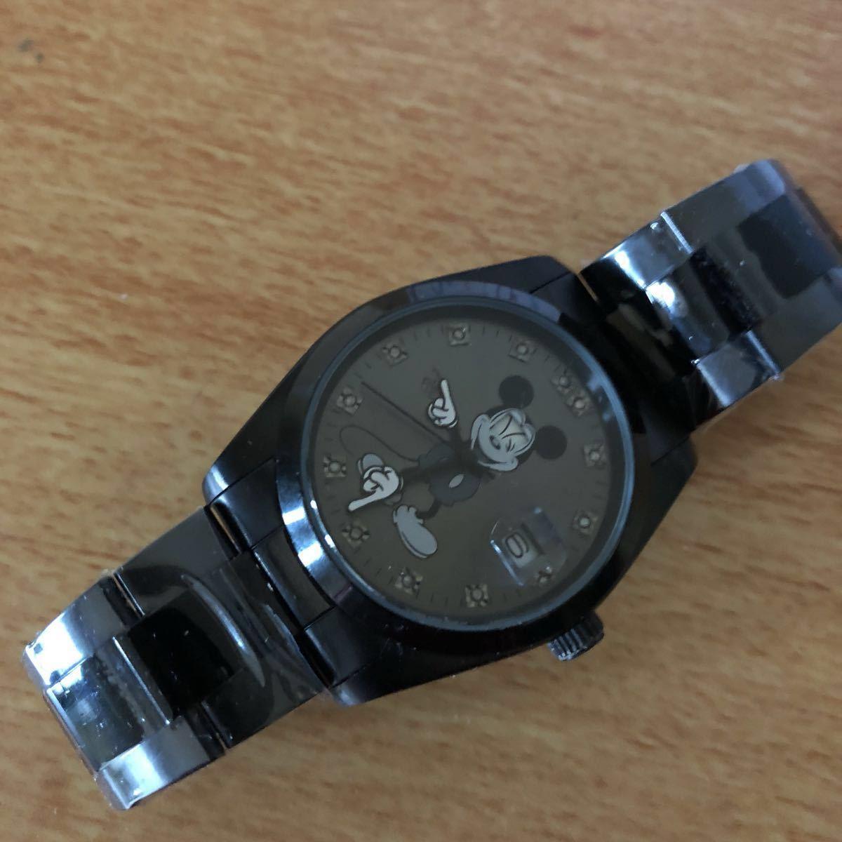 超プレミアム 世界限定モデル ミッキーマウス ダイヤモンド13石 腕時計 ロレックスタイプ ブラック未使用品 豪華オマケ付き_画像2