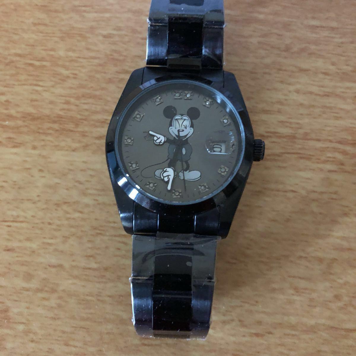 超プレミアム 世界限定モデル ミッキーマウス ダイヤモンド13石 腕時計 ロレックスタイプ ブラック未使用品 豪華オマケ付き