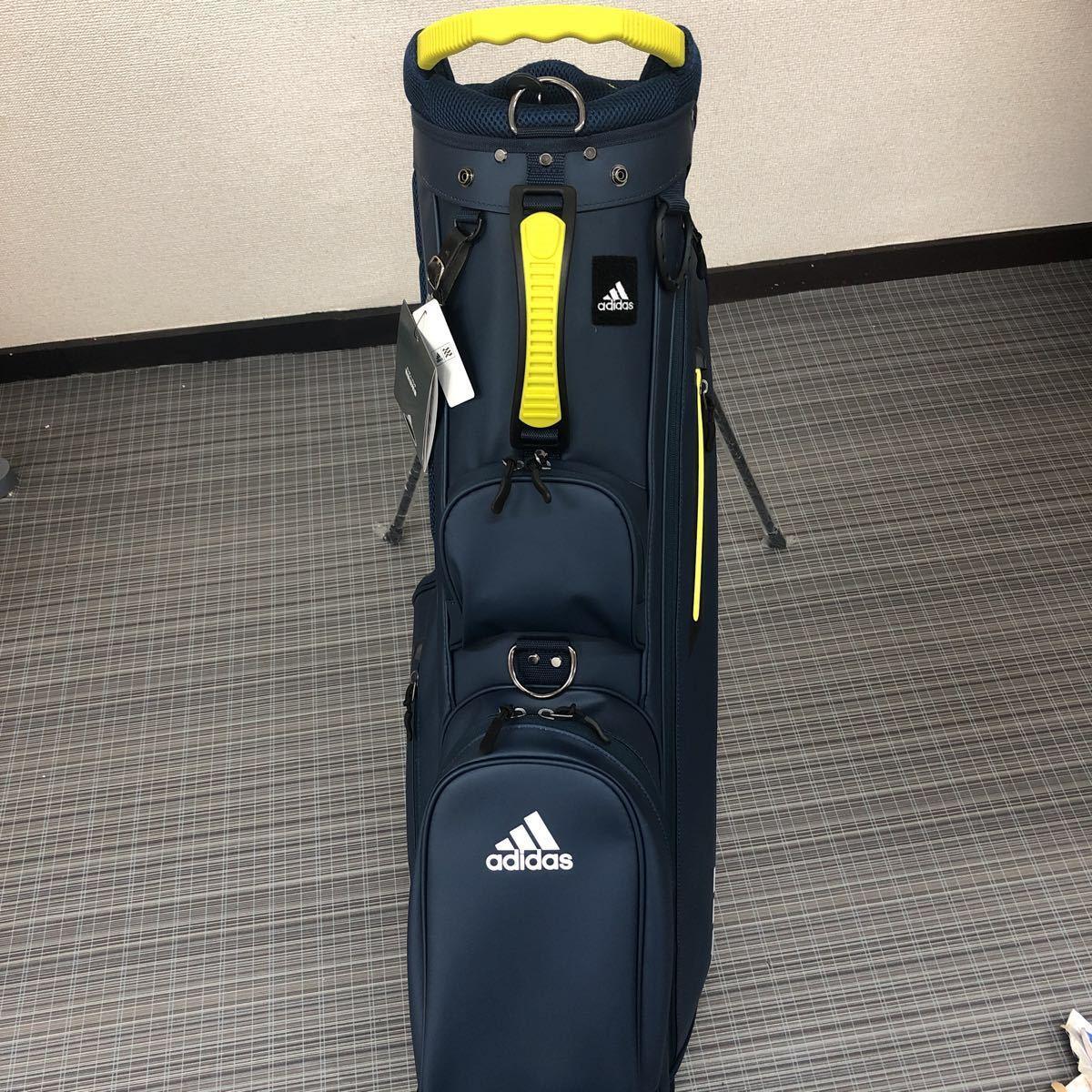 未使用品 アディダス adidas ゴルフ スタンド付き キャディバッグ ネイビー_画像3