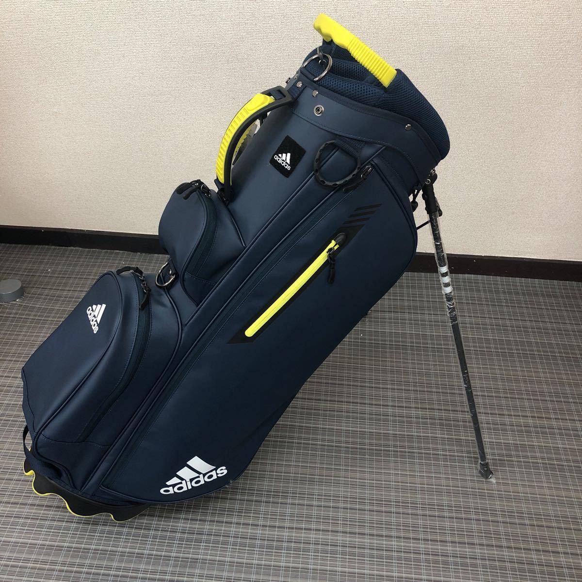 未使用品 アディダス adidas ゴルフ スタンド付き キャディバッグ ネイビー_画像2