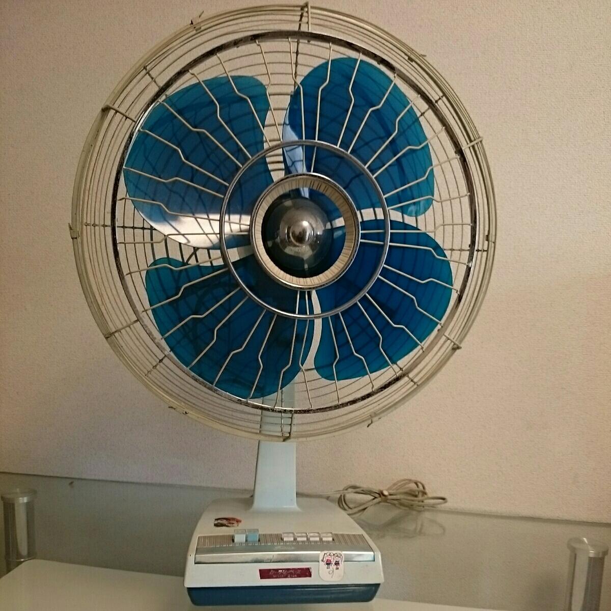 f067 TOSHIBA 東芝 扇風機 ロータリーベース SG形 羽根径40cm アンティーク レトロ 通電