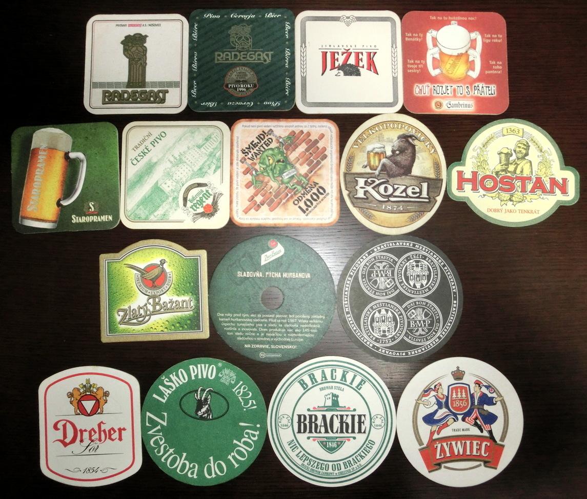 【ビールのコースター】 チェコ・東欧 使用済み 35枚_画像2