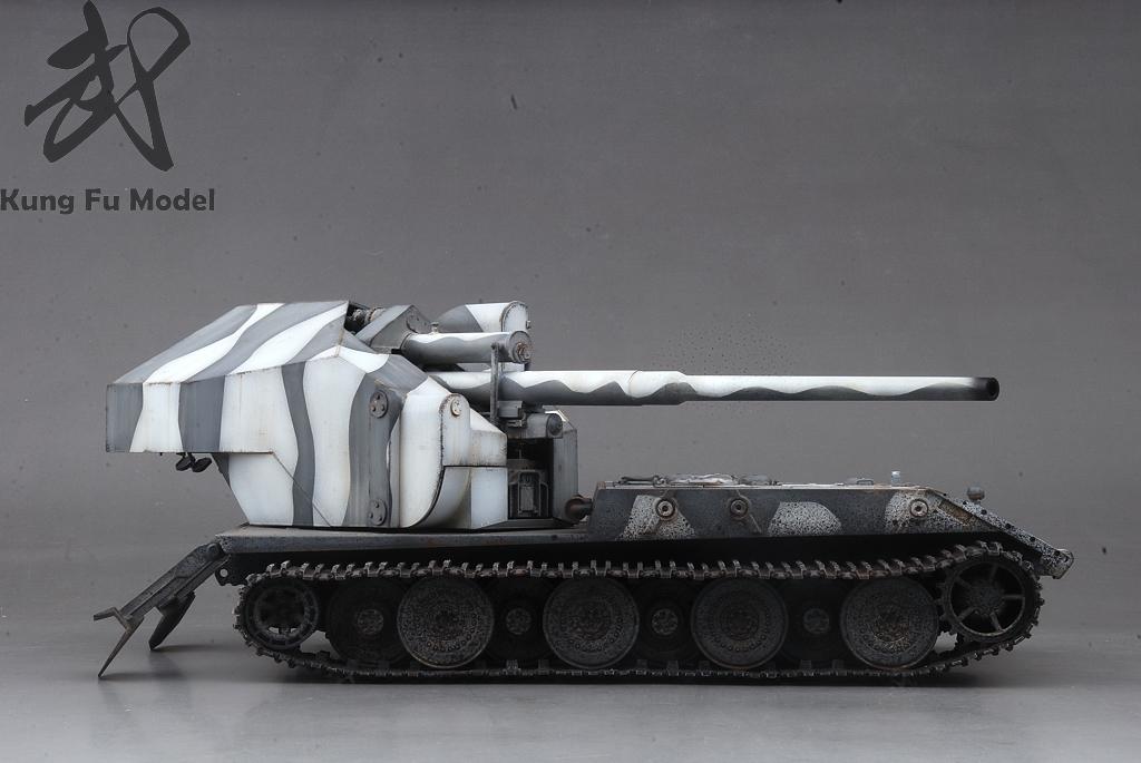 1/35 WWII German Waffentrager auf E-100プラモデル塗装完成品No.414_画像6