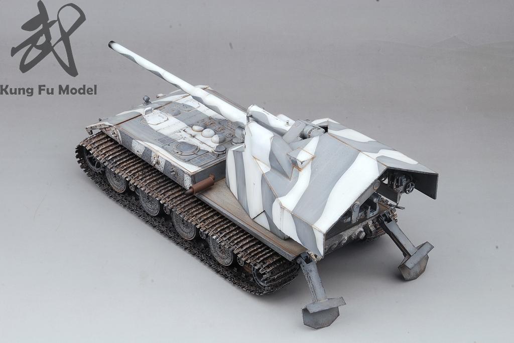1/35 WWII German Waffentrager auf E-100プラモデル塗装完成品No.414_画像3