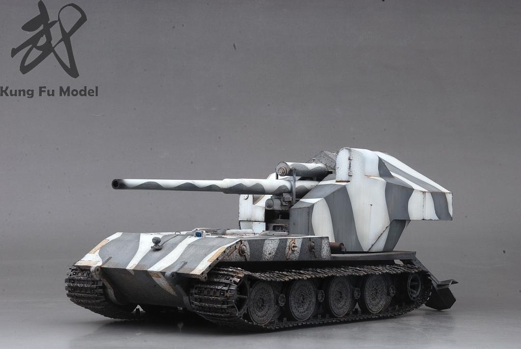1/35 WWII German Waffentrager auf E-100プラモデル塗装完成品No.414_画像2