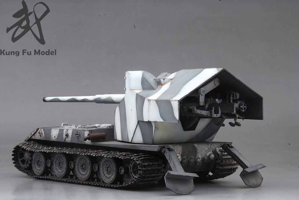 1/35 WWII German Waffentrager auf E-100プラモデル塗装完成品No.414_画像4