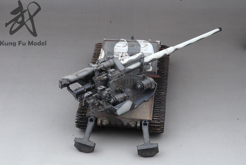 1/35 WWII German Waffentrager auf E-100プラモデル塗装完成品No.414_画像8