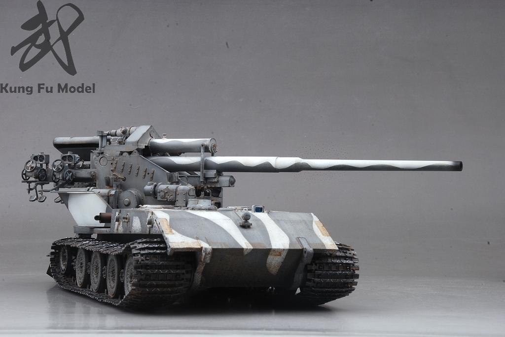 1/35 WWII German Waffentrager auf E-100プラモデル塗装完成品No.414_画像10