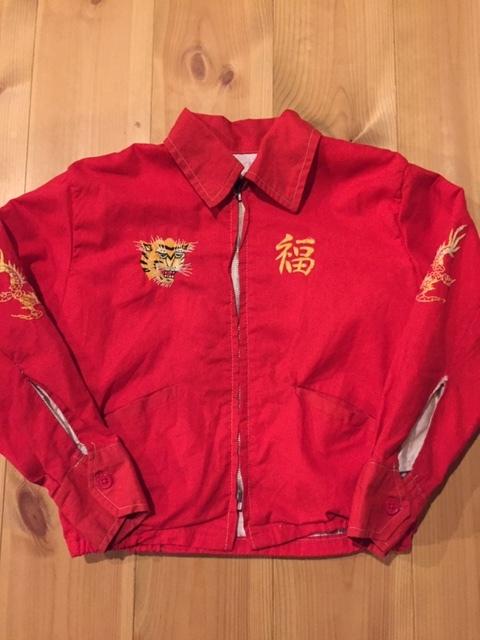 60's VIETNAM JACKET/ベトナムジャケット ベトジャン SOUVENIR JACKET/スーベニアジャケット KIDS/キッズ 赤_画像1