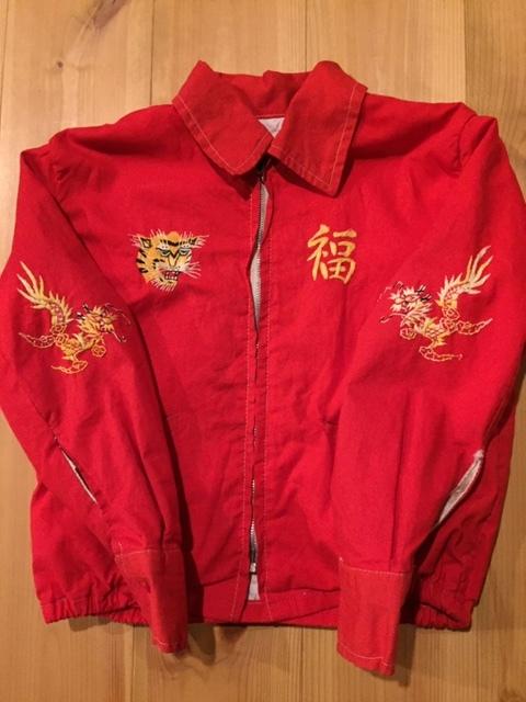 60's VIETNAM JACKET/ベトナムジャケット ベトジャン SOUVENIR JACKET/スーベニアジャケット KIDS/キッズ 赤_画像2