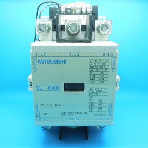 SL-N400 AC100V 機械ラッチ式電磁接触器 三菱電機 ランクB中古品_画像2