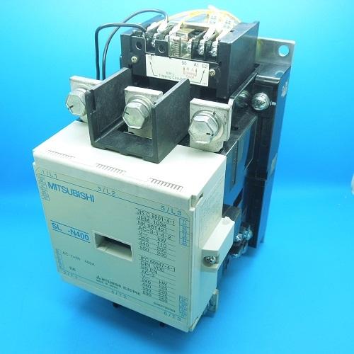 SL-N400 AC100V 機械ラッチ式電磁接触器 三菱電機 ランクB中古品_画像1