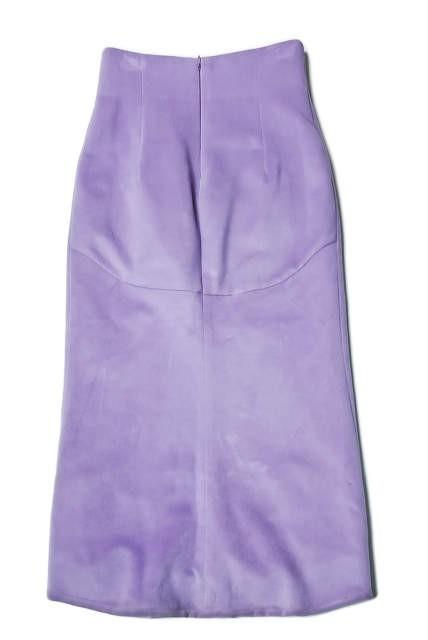 mame マメ 17AW 日本製 シルクウールハイウエストスカート MM17AW-SK060 1 ラベンダー Mame Kurogouchi | lc25799_画像3