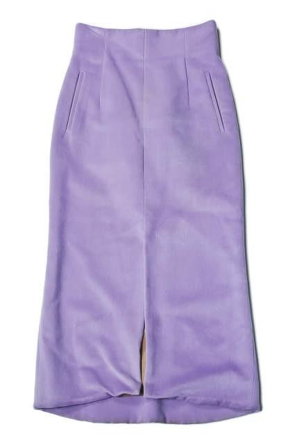 mame マメ 17AW 日本製 シルクウールハイウエストスカート MM17AW-SK060 1 ラベンダー Mame Kurogouchi | lc25799_画像2