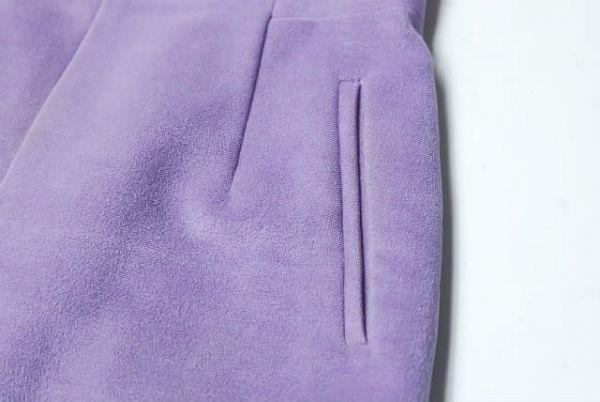 mame マメ 17AW 日本製 シルクウールハイウエストスカート MM17AW-SK060 1 ラベンダー Mame Kurogouchi | lc25799_画像7