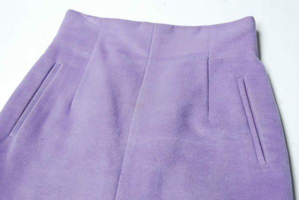 mame マメ 17AW 日本製 シルクウールハイウエストスカート MM17AW-SK060 1 ラベンダー Mame Kurogouchi | lc25799_画像5