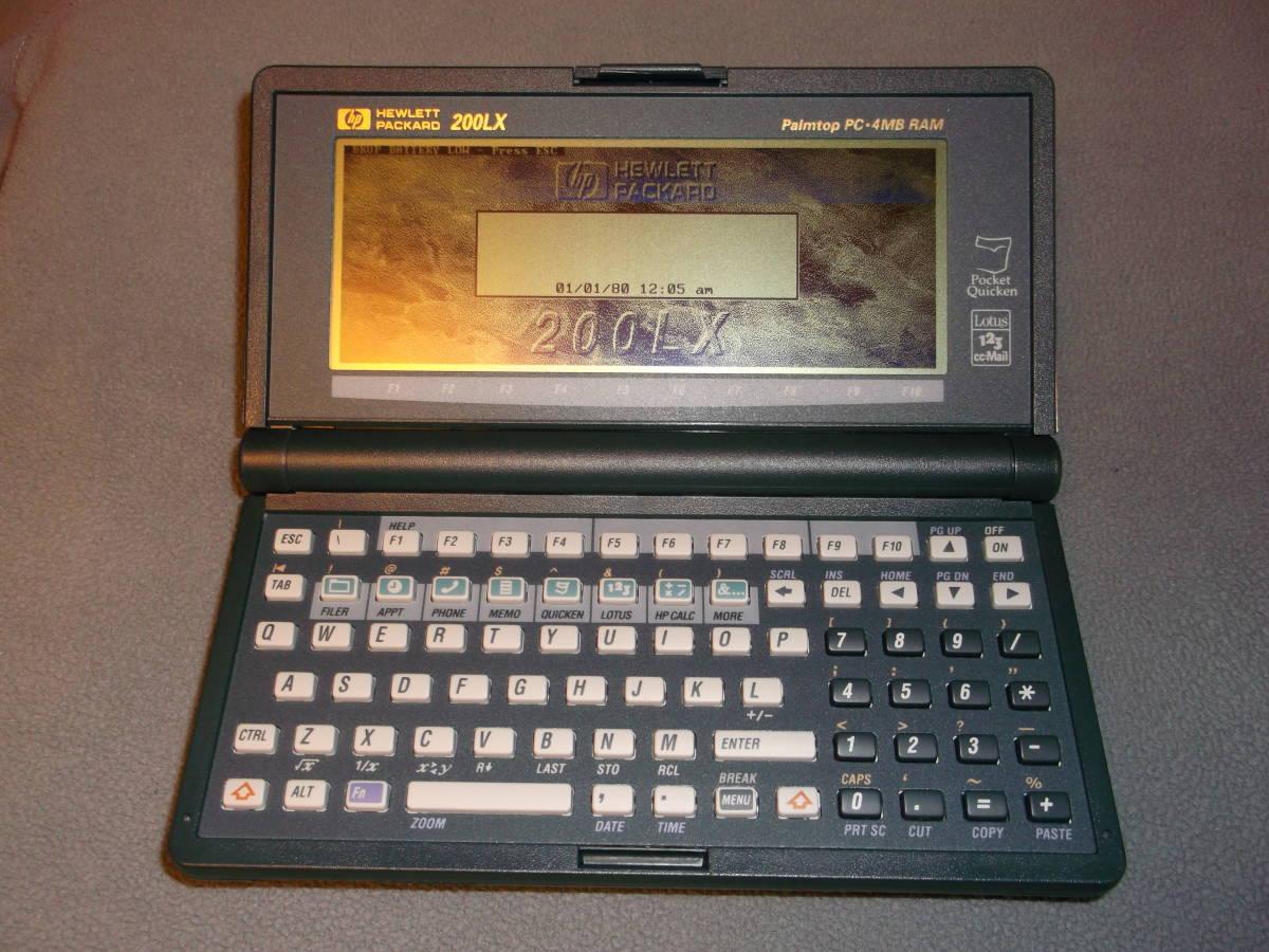 保存品☆Palmtop PC HP200LX(F1216A ABJ) 4MB RAM_画像2