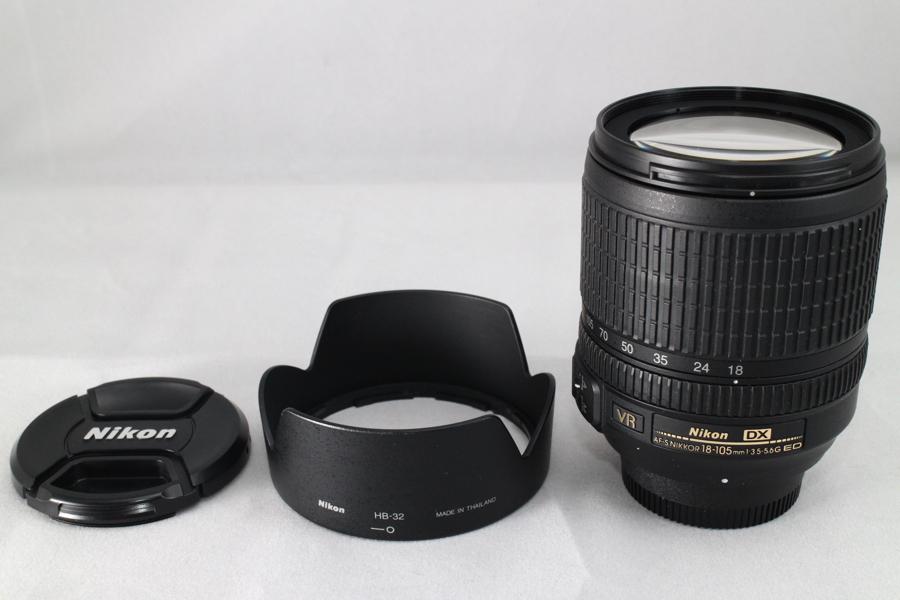 #1354 ニコン Nikon 標準ズームレンズ AF-S DX NIKKOR 18-105mm f/3.5-5.6G ED VR 美品