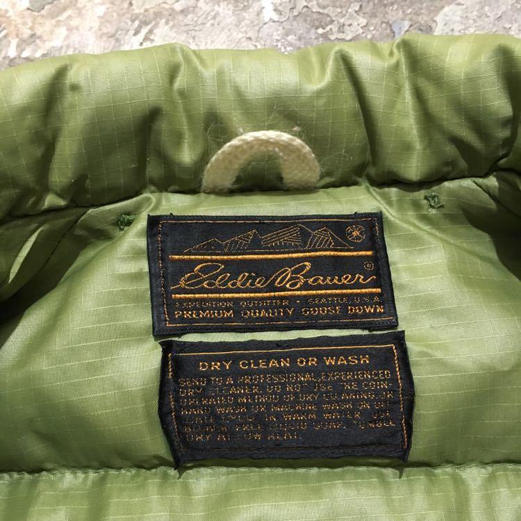 70s USA製 エディーバウアー ビンテージ ダウンジャケット アメリカ古着 80s 60s サイズ L XL メンズ Eddie Bauer リップストップナイロン_画像3