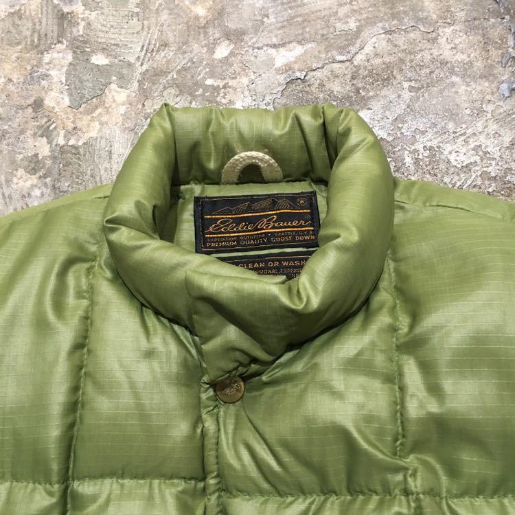 70s USA製 エディーバウアー ビンテージ ダウンジャケット アメリカ古着 80s 60s サイズ L XL メンズ Eddie Bauer リップストップナイロン_画像2