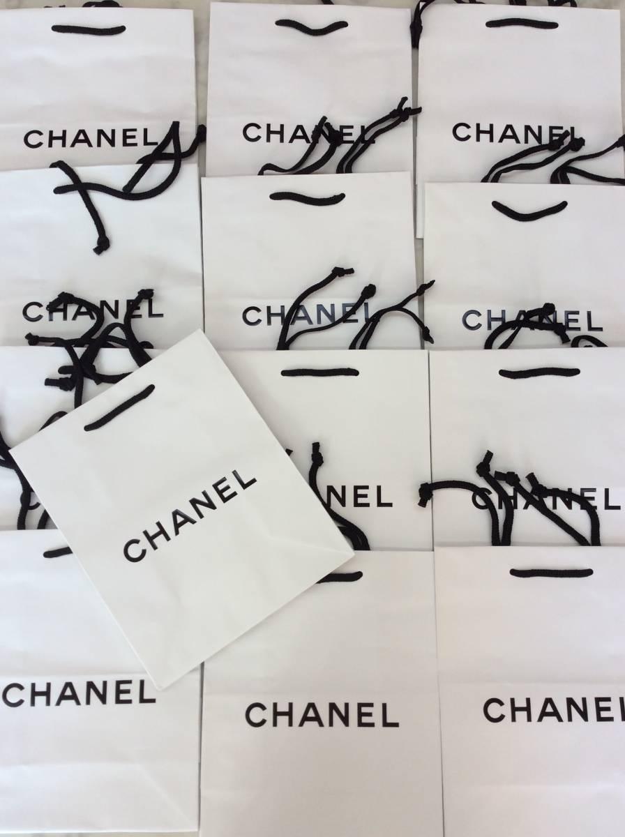 faa8938ffb21 ②CHANEL シャネルショップ袋紙袋ショッパー約15.5×21×11㎝ 13枚セットまとめ売り. 商品數量: :1