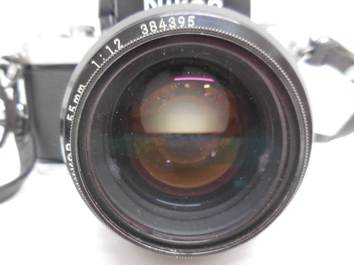 Nikon F2 7687628/NIKKOR 55mm 1:1.2 384395 動作未確認 ジャンク_画像3