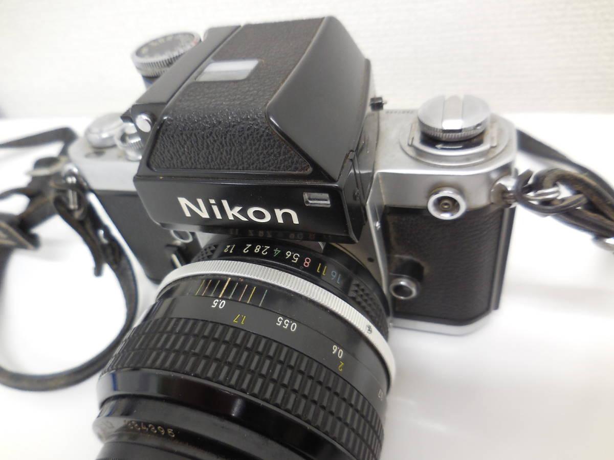 Nikon F2 7687628/NIKKOR 55mm 1:1.2 384395 動作未確認 ジャンク_画像4