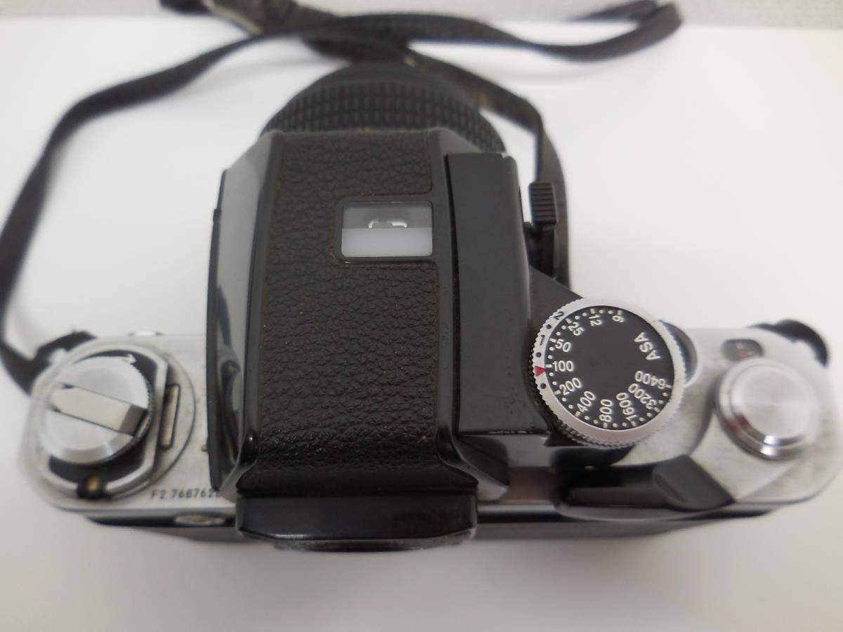Nikon F2 7687628/NIKKOR 55mm 1:1.2 384395 動作未確認 ジャンク_画像10