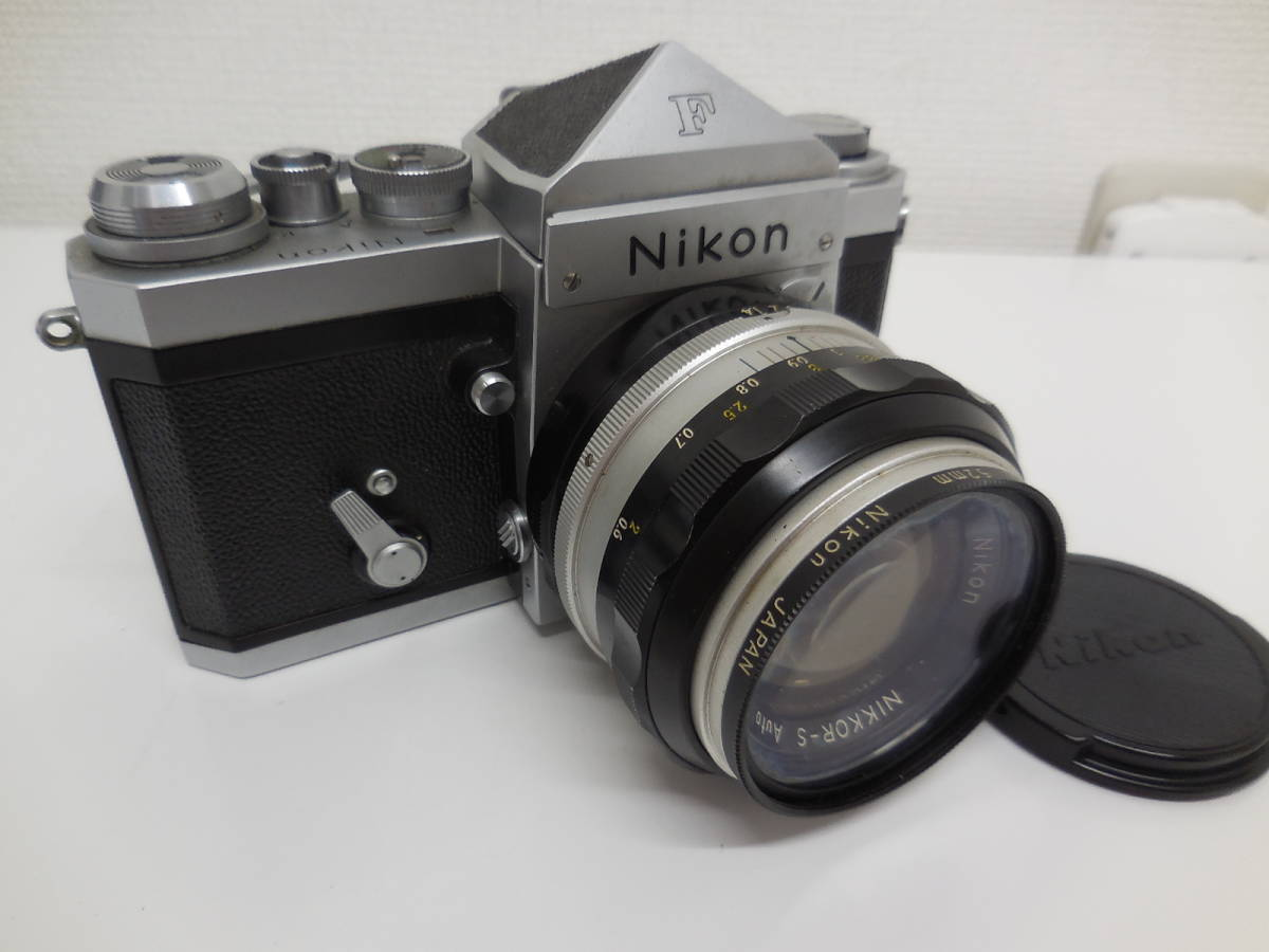 Nikon F アイレベル/NIKKOR-S f-50mm 1:1.4 動作未確認 ジャンク