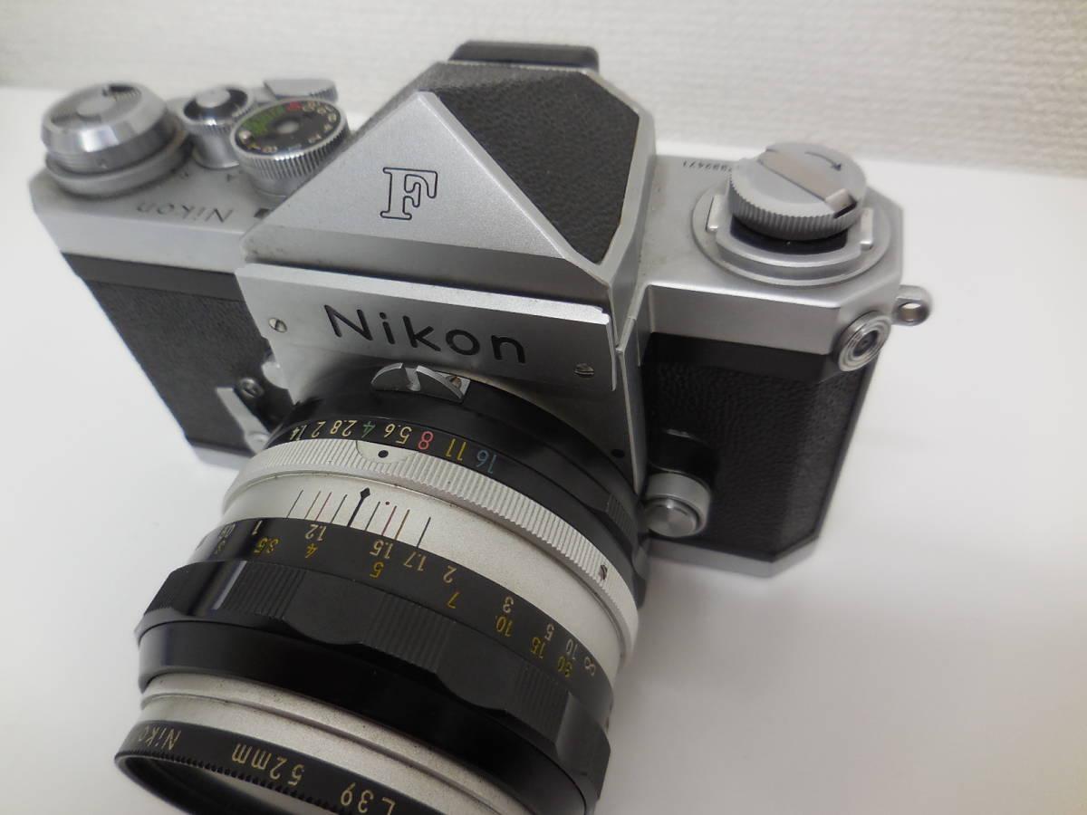 Nikon F アイレベル/NIKKOR-S f-50mm 1:1.4 動作未確認 ジャンク_画像6