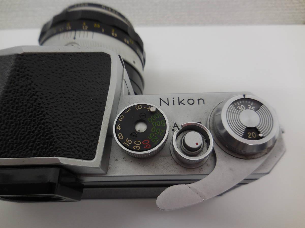 Nikon F アイレベル/NIKKOR-S f-50mm 1:1.4 動作未確認 ジャンク_画像9